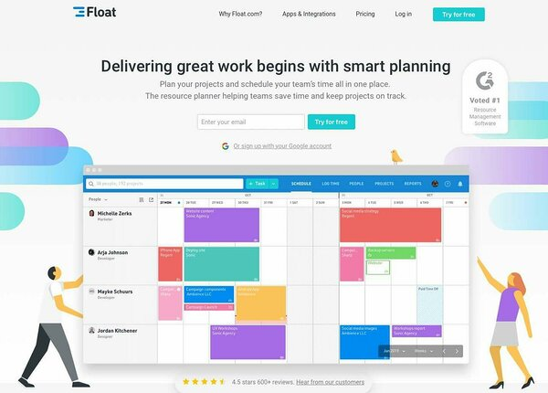 Float is planning software to visualize your team tasks and plans.