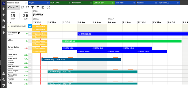 Ganttic can be the best online Gantt Chart for you in case you are looking for a resource oriented planning software