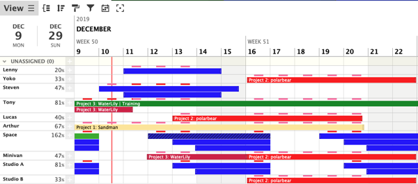 Sample of a Modern Gantt Chart