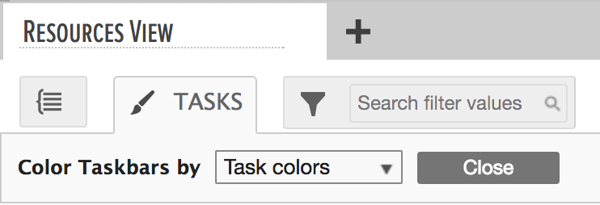 color taskbars by task colors in the gantt chart area