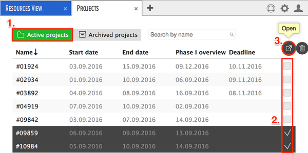 de-archive projects
