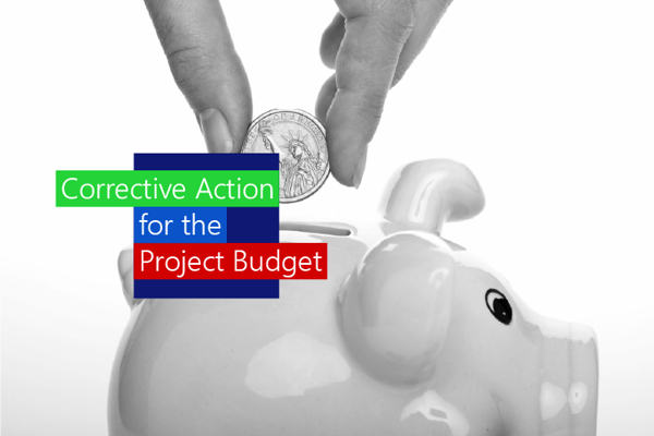 corrective action for a project budget