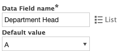 Default values for data fields