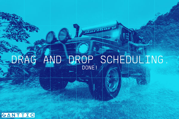 drag and drop scheduling software