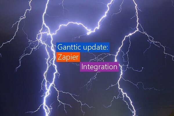 Ganttic is now integrated with Zapier.