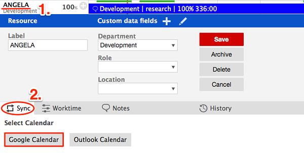 Sync Google Calendar With Gantt Charts Resource Planning Software