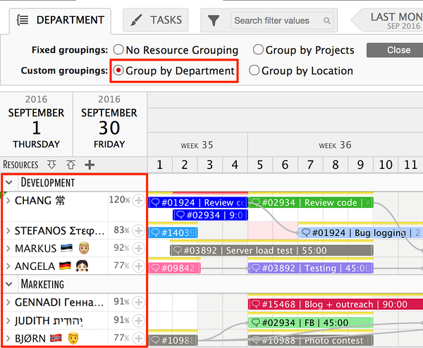 Add List of Options type custom data fields to resources to create custom resource groupings