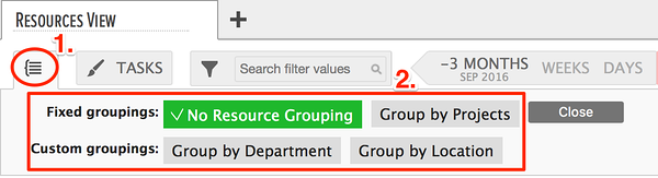 no resource grouping setting
