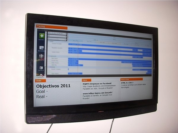 An image of Monday's objectives and goals displayed in Ganttic.