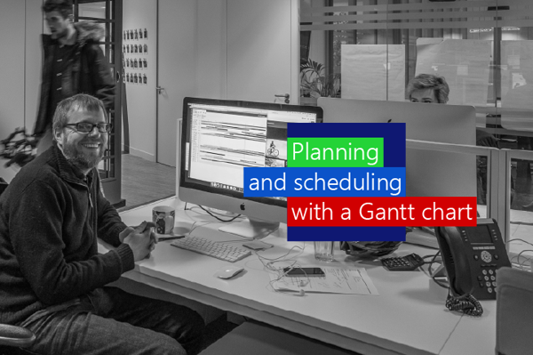 Planning and scheduling with a Gantt chart in Ganttic, a modern version of the classic Gantt chart.