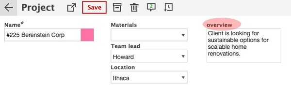 The new data field sizes let you pick just how much info you need to present. Going with the Multi-row small size allows us to pick just the right amount of room for our Text-type data.