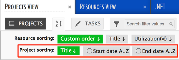 resources ordered by resource title
