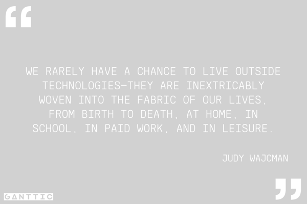 a quote about technologies by judy wajcman