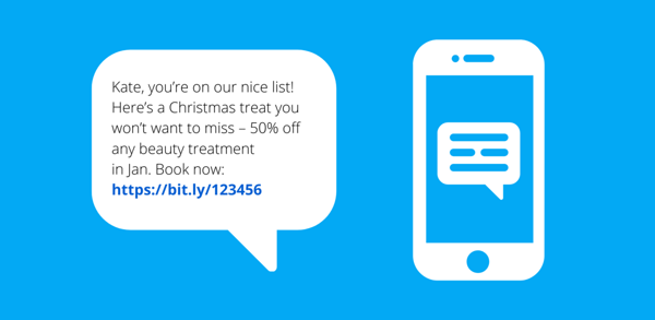 Christmas business text message example