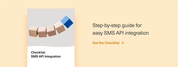 SMS API Integration Checklist