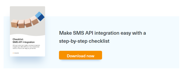 Link to download SMS API integration checklist