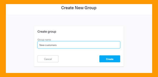 Contact group creation with Messente