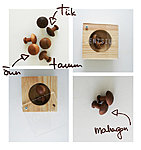 Mushroom cuff links - apple, teak, oak, mahogany