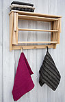 wall rack with shelf and hooks 60cm* 40 cm