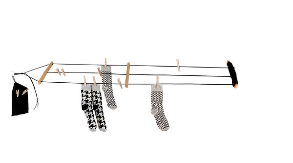 Pesuliisu washing line. Length 5 meters, adjustable for your needs.