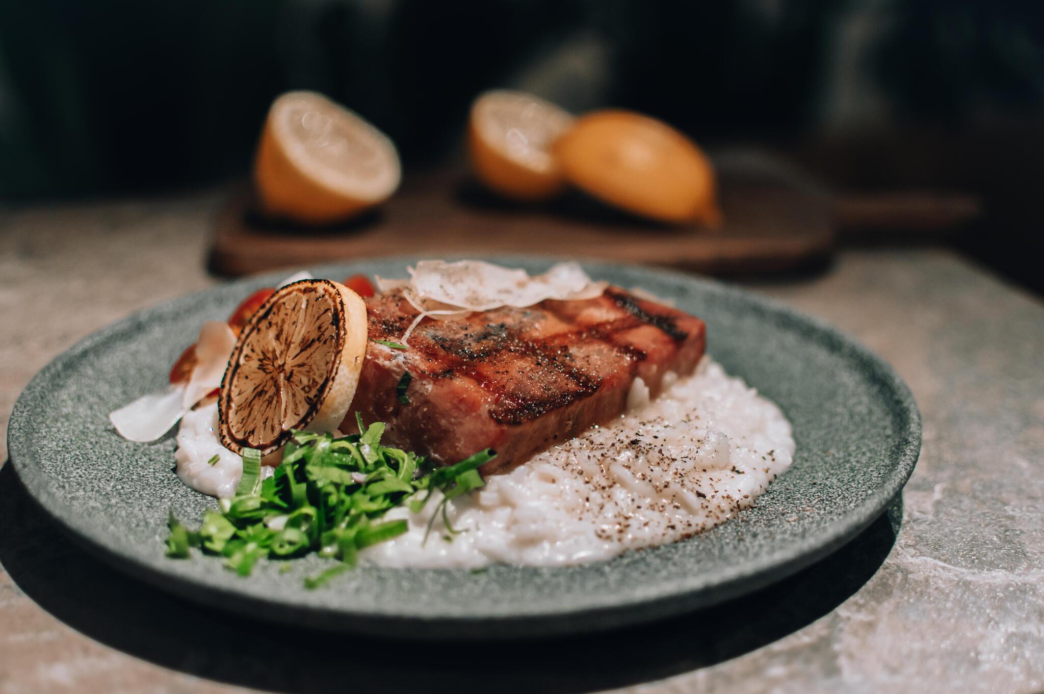 Tuunikala steik sidruni risotoga