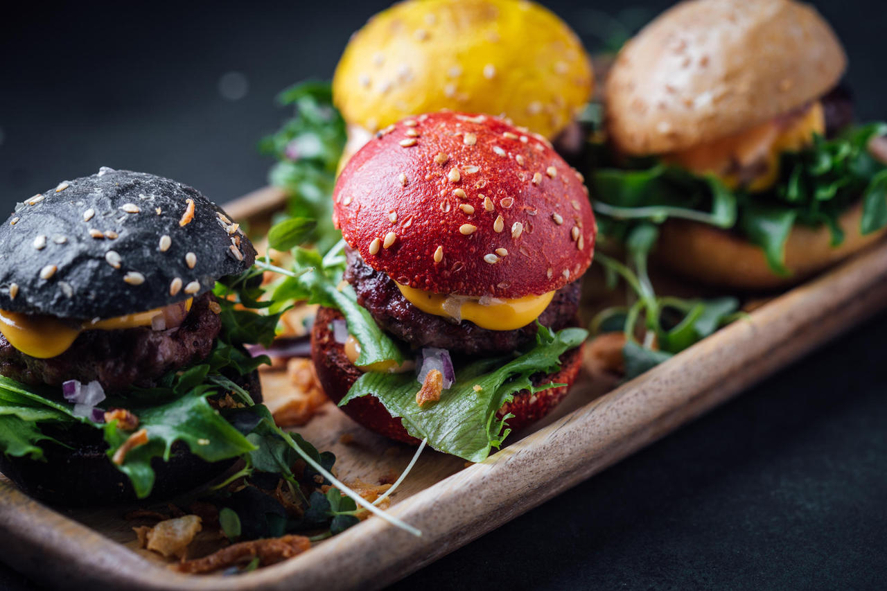 Mini burgers (4 pcs)