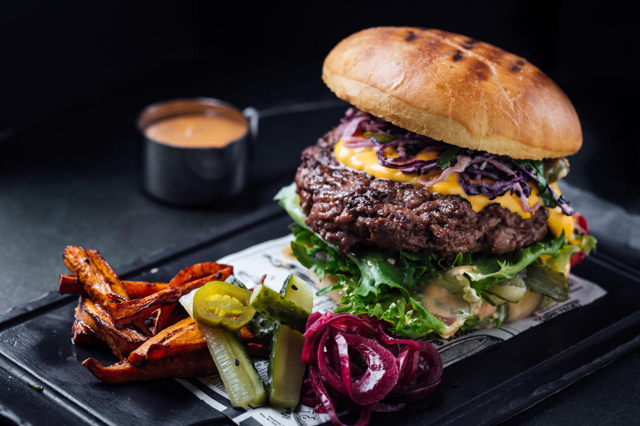 Burger with prime Estonian beef patty