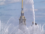 fountain in St Petersburg, Russia