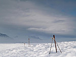 poles in snow, Iceland