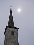Järva-Madise church and the sun