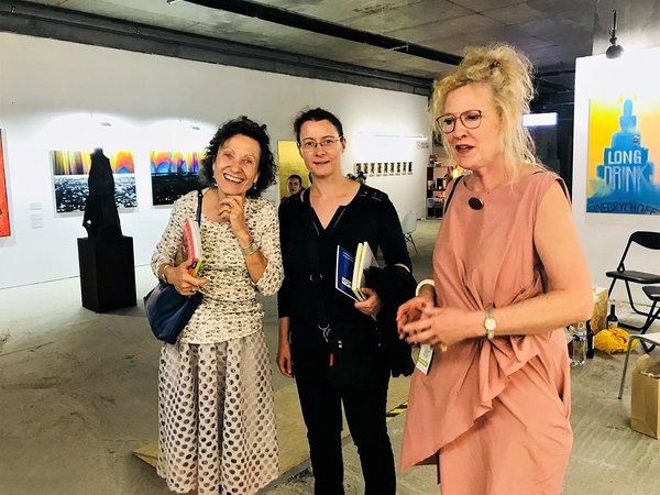 Kiev Art fair 2018 with Her Excellency Mme Isabelle DUMONT (middle), Ambassador of France in Ukraine