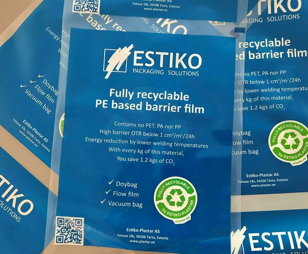 Estiko Fully Recyclable PE Based Barrier Film