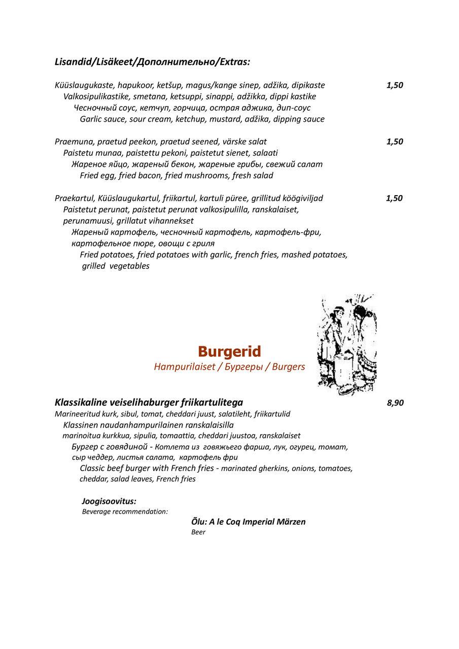 4dab9b75dbc Kogu menüü saad välja printida SIIN
