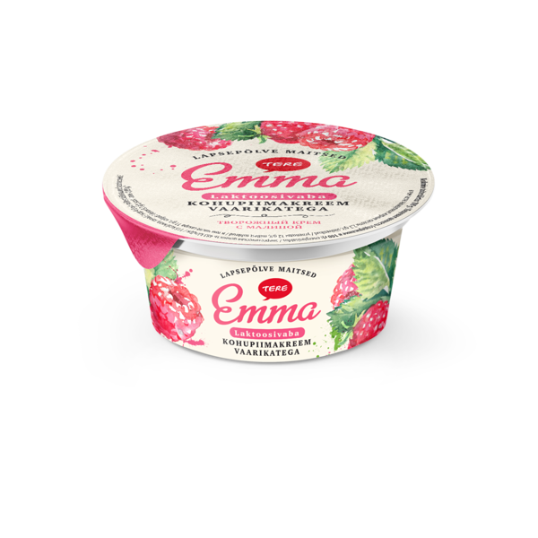 Emma curd cream with raspberry 150 g. Lactose free