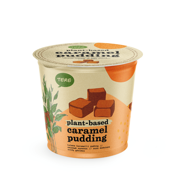 Plant-based caramel pudding