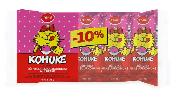 """Kohuke"" Classic glazed curd snack with cranberry multipack 5 x 43 g"