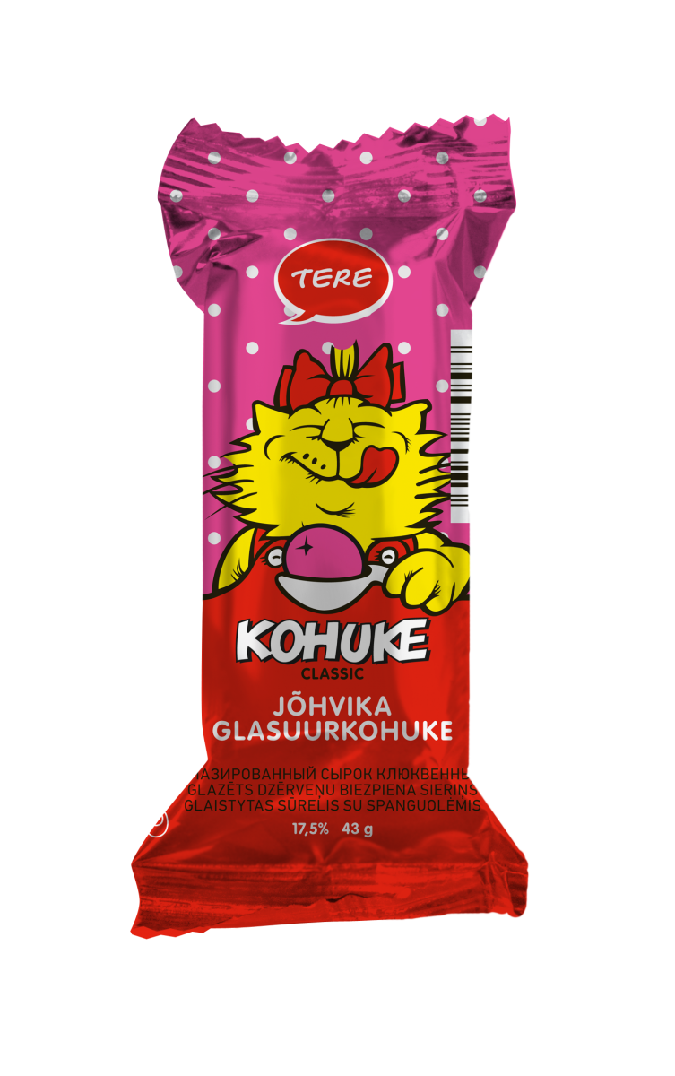 """Kohuke"" Classic glazed curd snack with cranberry"
