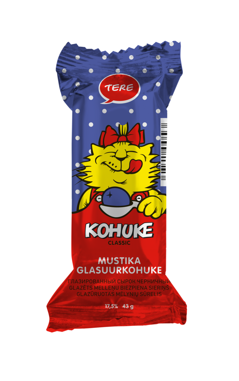 """Kohuke"" Classic glazed curd snack with blueberry"
