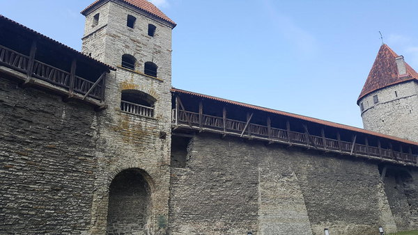 Inside of the medieval town wall