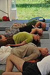 2010; Kriya Hatha Yoga during the open doors event in Lilleoru. Photo: Aimar Säärits