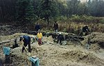 1994; Construction of Lilleoru: laying foundation for the future retreat building. Private collection