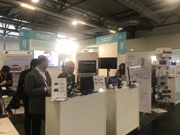 SOFIE booth at ICT2018 in Vienna, Dec 2018