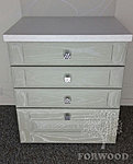 Ash Chest of Drawers JUKA (white coated ash)
