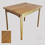 Extendable Family Table.  Oak structure with oak veneer surface 19mm.  Size 700 x 900mm.  Size with one side open – 700 x 1300mm.  Size fully open – 700 x 1700mm.  Legs are easily removable. ** Price €437.00