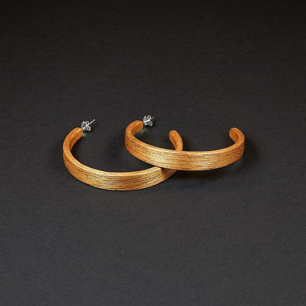 Iroko hoop earrings