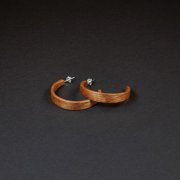Mahogany hoop earrings