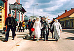 The Grand Opening of Kondas Center in  2003, procession through the streets of Viljandi