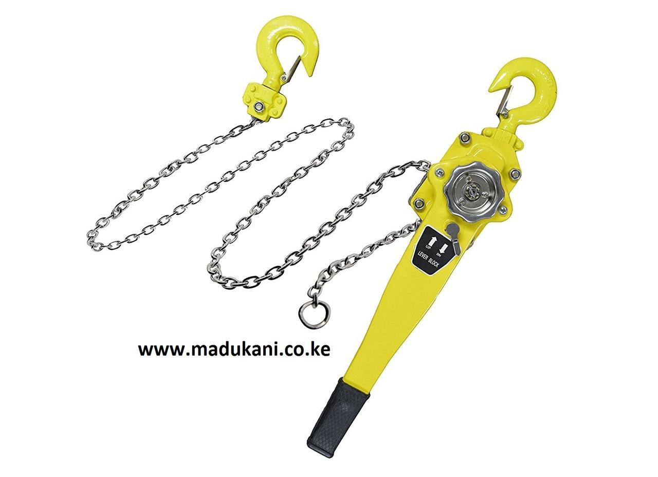 Lever Block Chain Hoist with 10' Lift - 3 Ton — Madukani