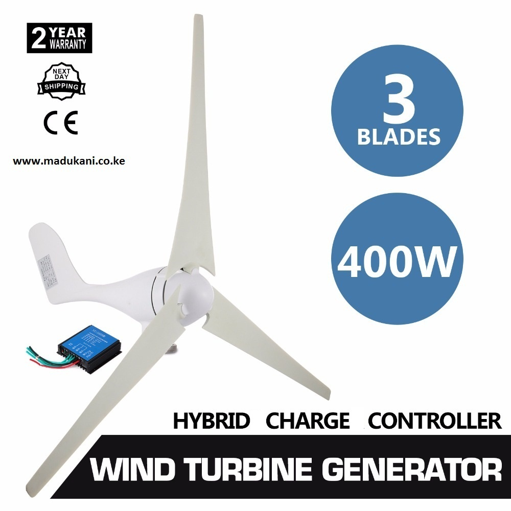 400W Wind Turbine with 20A Charge Controller — Madukani