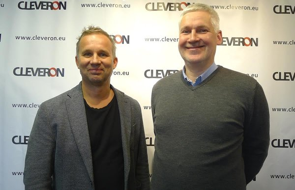 Cleveron's CEO Arno Kütt posing with Andres Liinat